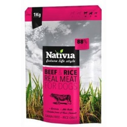 Nativia Real Meat Beef&Rice...
